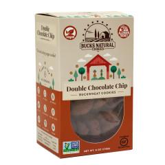 BUCKS NATURAL - BUCKWHEAT COOKIES - DOUBLE CHOCOLATE - 6OZ