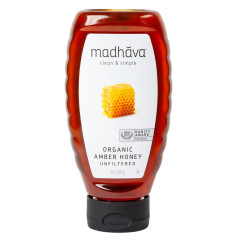 MADHAVA - ORG - AMBER HONEY SQUEEZE - 16OZ