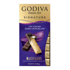 GODIVA - MINI BAR - DARK CHOCOLATE - 72% - 3.1OZ