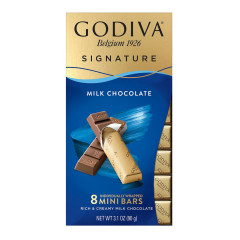 GODIVA - MINI BAR - MILK CHOCOLATE - 3.1OZ