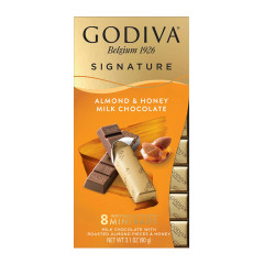 GODIVA - MINI BAR - ALMOND & HONEY - 3.1OZ