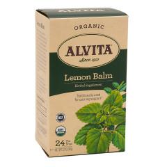 ALVITA TEA ORGANIC LEMON BALM TEA BAGS 24 CT BOX