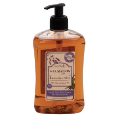 A LA MAISON LAVENDER ALOE LIQUID SOAP 16.9 OZ PUMP BOTTLE