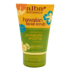 ALBA BOTANICA PINEAPPLE ENZYME FACIAL SCRUB 4 OZ TUBE