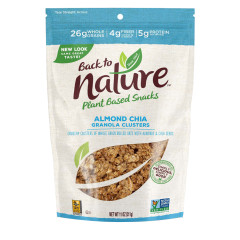 BACK TO NATURE ALMOND CHIA GRANOLA CLUSTERS 11 OZ POUCH