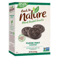 BACK TO NATURE FUDGE MINT COOKIES 6.4 OZ BOX