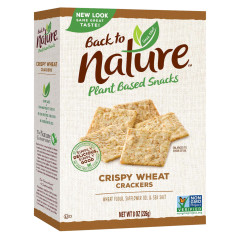 BACK TO NATURE CRISPY WHEAT CRACKERS 8 OZ BOX