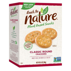 BACK TO NATURE CLASSIC ROUND CRACKERS 8.5 OZ BOX