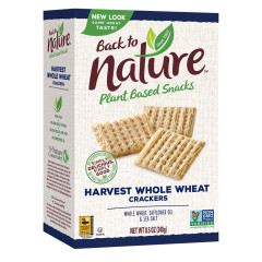 BACK TO NATURE HARVEST WHOLE WHEAT CRACKERS 8.5 OZ BOX