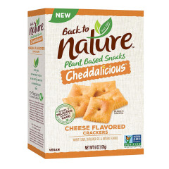 BACK TO NATURE CRISPY CHEDDAR CRACKERS 7.5 OZ BOX
