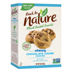 BACK TO NATURE CHEWY CHOCOLATE CHUNK COOKIES 8 OZ