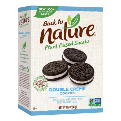 BACK TO NATURE DOUBLE CLASSIC CREME COOKIES 10.7 OZ