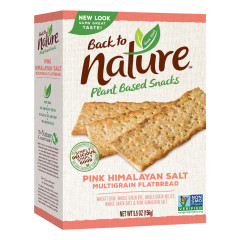 BACK TO NATURE PINK HIMALAYAN SALT MULTIGRAIN CRACKERS 5.5 OZ