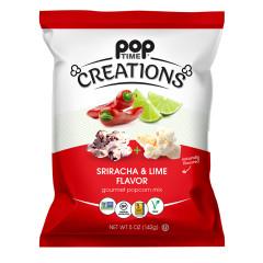 POPTIME - CREATIONS - POPCORN SRIRACHA & LIME - 5OZ
