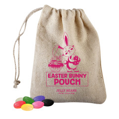 EASTER BUNNY POUCH - WITH JELLY BEANS - 2.5OZ