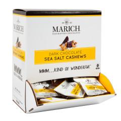 MARICH DARK CHOCOLATE SEA SALT CASHEW 0.5 OZ GRAVITY BIN
