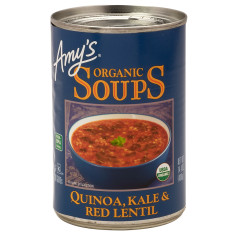 AMY'S QUINOA KALE & RED LENTIL SOUP 14.4 OZ CAN