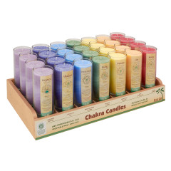 ALOHA BAY CHAKRA ENERGY 11 OZ CANDLE JAR DISPLAY PRE PACKED