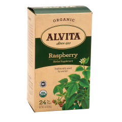 ALVITA TEA-RED ORGANIC RASPBERRY LEAF TEA BAGS 24 CT BOX