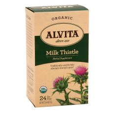 ALVITA TEA ORGANIC MILK THISTLE TEA BAGS 24 CT BOX