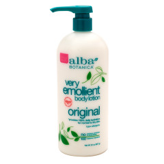 ALBA BOTANICA EMOLLIENT BODY LOTION 32 OZ PUMP BOTTLE