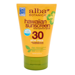 ALBA BOTANICA ALOE VERA SUNSCREEN SPF 30 4 OZ TUBE