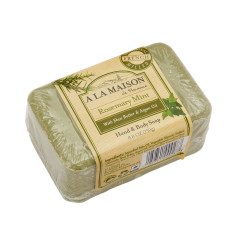 A LA MAISON ROSEMARY MINT SOLID BAR 8.8 OZ SOAP