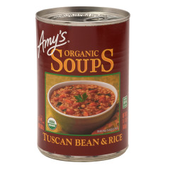 AMY'S TUSCAN BEAN & RICE SOUP 14.1 OZ CAN