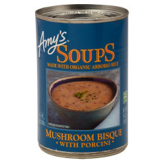AMY'S MUSHROOM BISQUE WITH PORCINI 14 OZ CAN