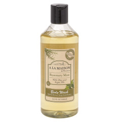 A LA MAISON ROSEMARY MINT BATH & SHOWER GEL 16.9 OZ BOTTLE