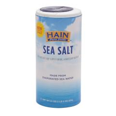HAIN PURE FOODS NON-IODIZED SEA SALT 21 OZ SHAKER