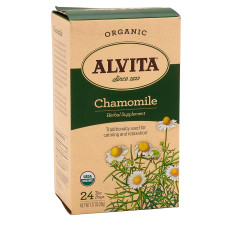 ALVITA TEA ORGANIC CHAMOMILE TEA BAGS 24 CT BOX