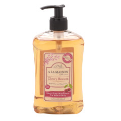 A LA MAISON CHERRY BLOSSOM LIQUID SOAP 16.9 OZ PUMP BOTTLE