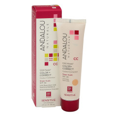 ANDALOU NATURALS 1000 ROSES COLOR CORRECT SHEER NUDE CREAM, SPF 30 2 OZ