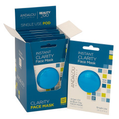 ANDALOU - INSTANT CLARITY CLAY MASK - .28OZ - 6CT - 6/CS