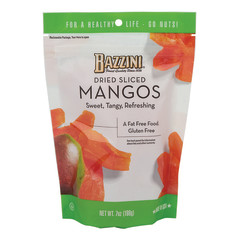 BAZZINI DRIED SLICED MANGOS 7 OZ POUCH