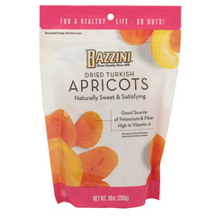 BAZZINI DRIED TURKISH APRICOTS 10 OZ POUCH