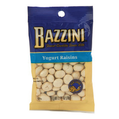 BAZZINI YOGURT COVERED RAISINS 2.75 OZ PEG BAG