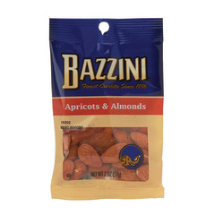BAZZINI APRICOT & ALMOND 2 OZ PEG BAG