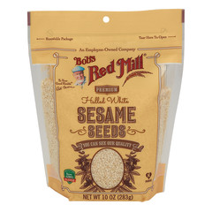 BOB'S RED MILL WHITE HULLED SESAME SEEDS 10 OZ PEG BAG