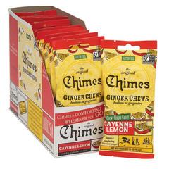 CHIMES CAYENE LEMON GINGER CHEWS CONVENIENCE PACK 1.5 OZ PEG BAG