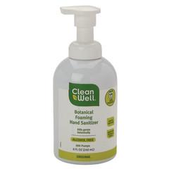 CLEANWELL FOAMING HAND SANITIZER 8 OZ PUMP BOTTLE