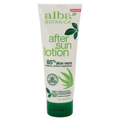 ALBA BOTANICA 85% ALOE AFTER SUN LOTION 8 OZ TUBE