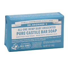 DR. BRONNER'S BABY UNSCENTED MAGIC BAR 5 OZ SOAP