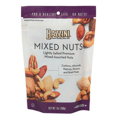 BAZZINI SALTED MIXED NUTS 7 OZ POUCH