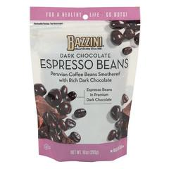 BAZZINI DARK CHOCOLATE ESPRESSO BEANS 10 OZ POUCH