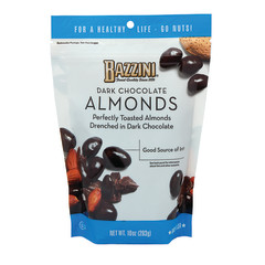 BAZZINI DARK CHOCOLATE ALMONDS 10 OZ POUCH