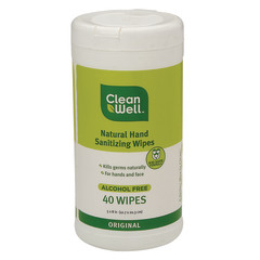 CLEANWELL ORIGINAL HAND WIPES 40 WIPES CANISTER