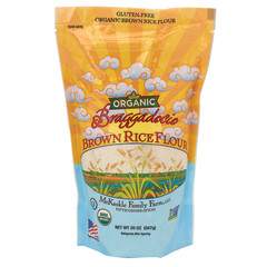 BRAGGADOCIA ORGANIC BROWN RICE FLOUR 20 OZ POUCH