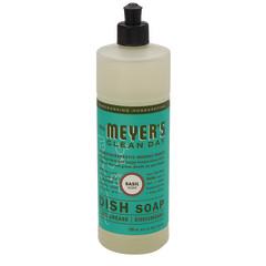MRS. MEYER'S BASIL LIQUID DISH SOAP 16 OZ BOTTLE